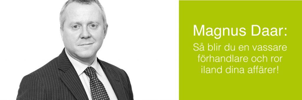 Advokat Magnus Daar gästade Värmdö Företagarförening med föredrag om förhandlingsteknik 2019